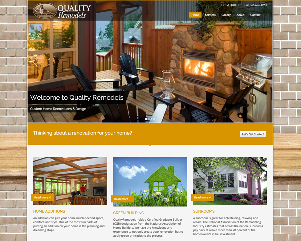 Quality Remodels website